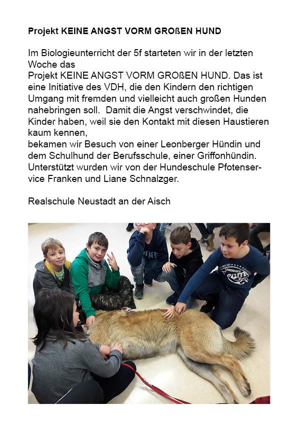 Referenzen Realschule Neustadt an der Aisch
